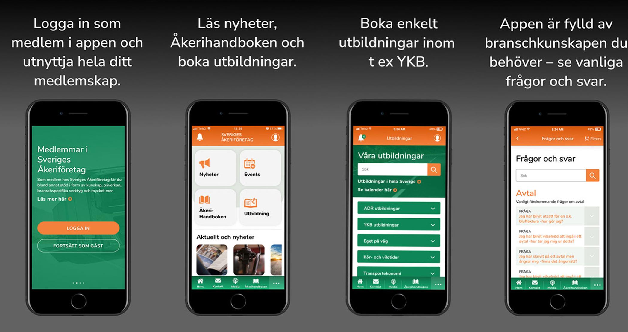 Sveriges Åkeriföretags app